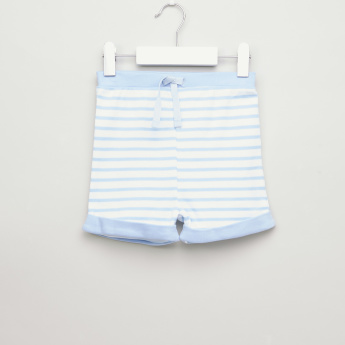 Juniors 2-Piece Cotton Shorts with Drawstring Waist