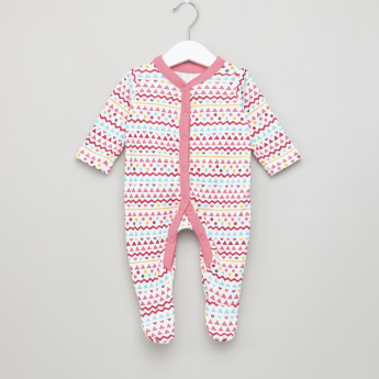 Juniors Printed Closed Feet Sleepsuit - Set of 3