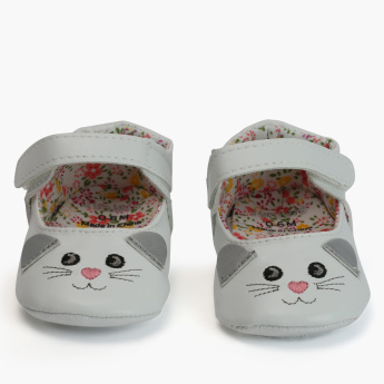 Juniors Printed Booties with Hook and Loop Closure