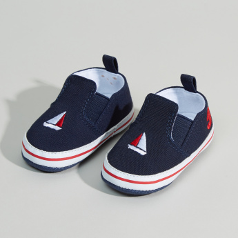 Juniors Embroidered Booties with Elasticised Gussets