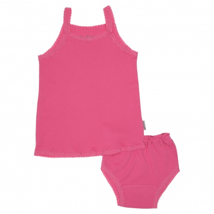 Juniors Solid Colour Vest Set