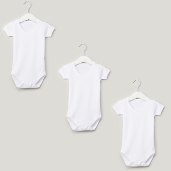 Juniors Short-sleeved Solid Bodysuit - Set of 3