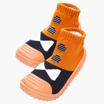Cool Gripper Printed Baby Shoe Socks with Ribbed Hems