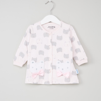 Juniors Printed Shirt and Pyjama Set