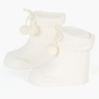 Giggles Textured High-Top Booties