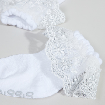 Giggles Ankle-Length Socks with Lace Detail