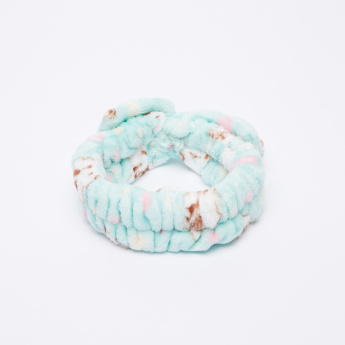 Charmz Printed Plush Hair Tie