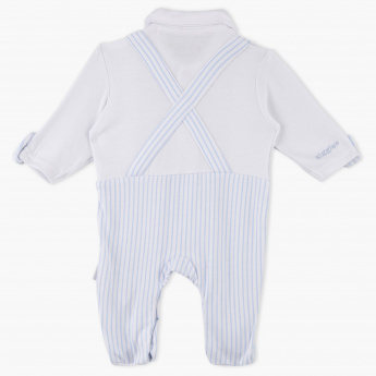 Giggles Striped Closed Feet Sleepsuit