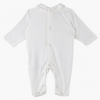 Giggles Lace Embroidered Sleepsuit