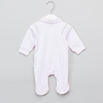 Giggles Piping Detail Long Sleeves Closed Feet Sleepsuit