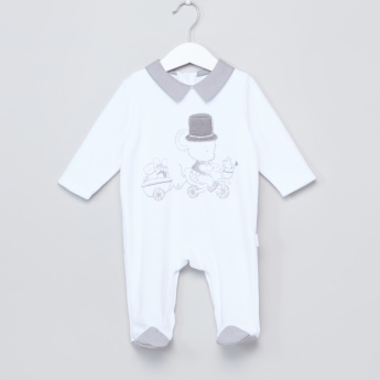 Giggles Embellished Closed Feet Sleepsuit