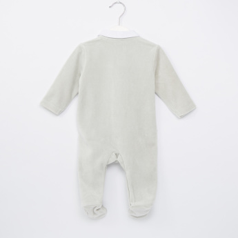 Giggles Closed Feet Mock Tie Sleepsuit