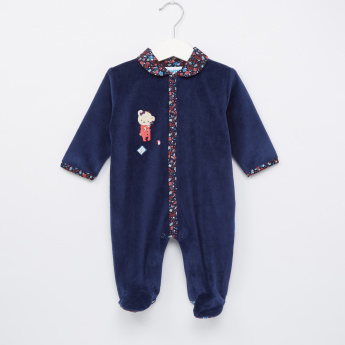 Juniors Printed and Collared Closed Feet Sleepsuit