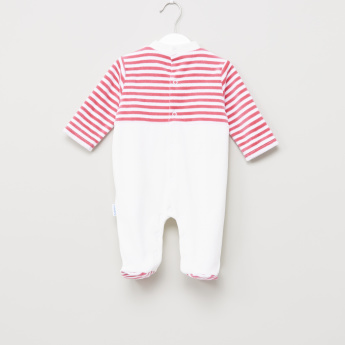 Juniors Striped Closed Feet Sleepsuit