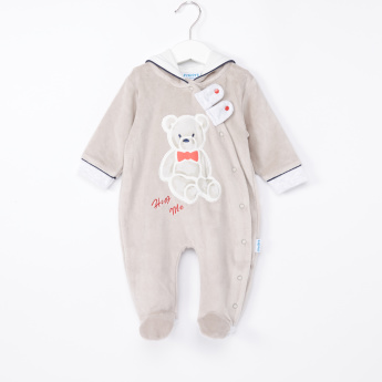 Juniors Printed and Hooded Closed Feet Sleepsuit