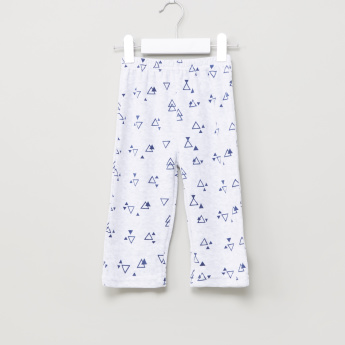 Juniors Plush Top and Printed Pyjama Set