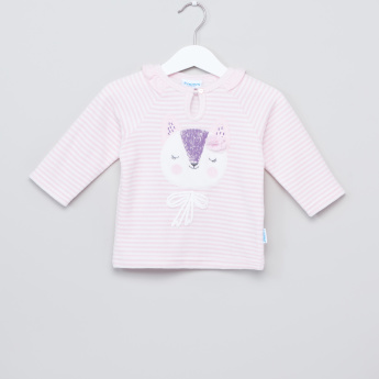 Juniors Striped Top and Pyjama Set
