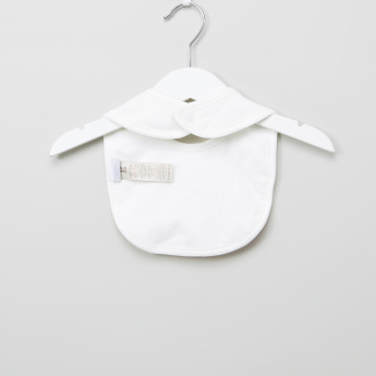 Giggles Textured Bib with Snap Closure