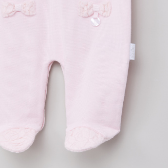 Giggles Applique Detail Closed Feet Sleepsuit