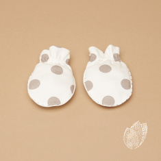 Giggles Polka Dot Printed Mittens