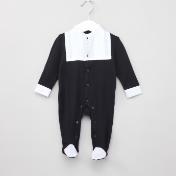Giggles Colourblock Closed Feet Sleepsuit