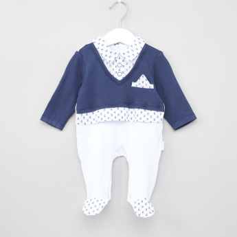 Giggles Colourblock Panelled Sleepsuit