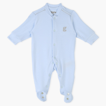 Giggles Embroidered Sleepsuit