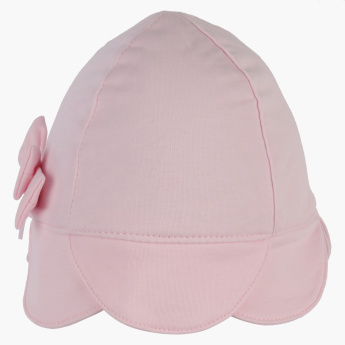 Giggles Cap with Bow and Scallop Detail
