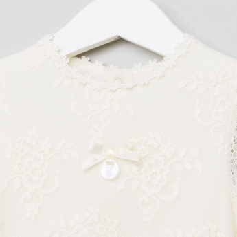 Giggles Lace Detail Long Sleeves Bodysuit