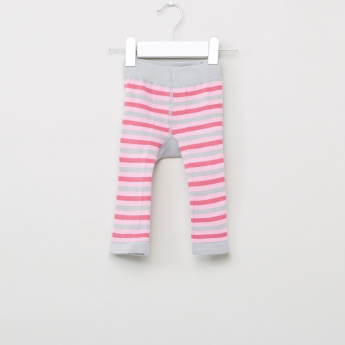 Blade & Rose Striped Leggings with Elasticised Waistband