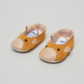 Juniors Textured Baby Shoes with Elasticised Band