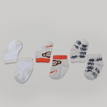 Juniors Printed Socks - Set of 3
