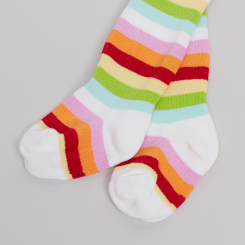 Juniors Striped Closed Feet Tights