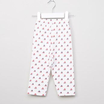 Juniors Long Sleeves T-Shirt and Printed Pyjama Set