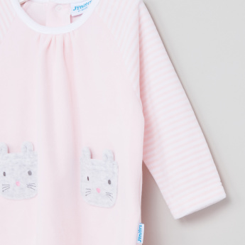 Juniors Striped T-Shirt and Pyjama Set
