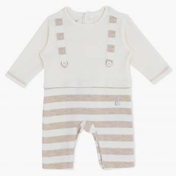 Giggles Striped Round Neck Sleepsuit