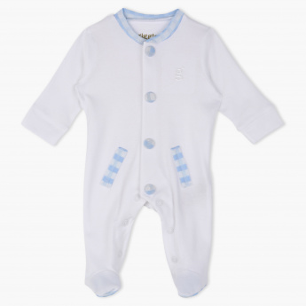 Giggles Chequered Sleepsuit