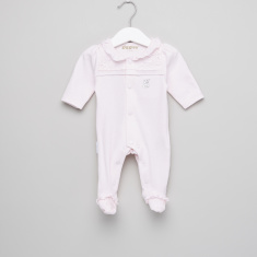 Giggles Ary Frill Detail Closed Feet Sleepsuit