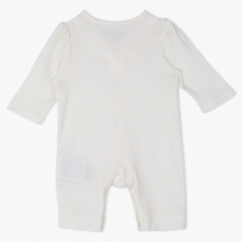 Giggles Embroidered Long Sleeves Sleepsuit