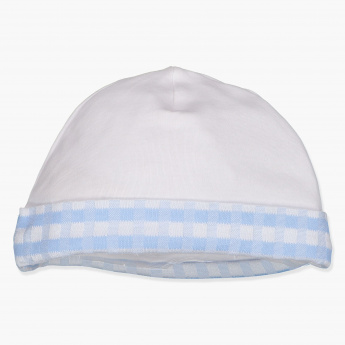 Giggles Chequered Beanie Cap