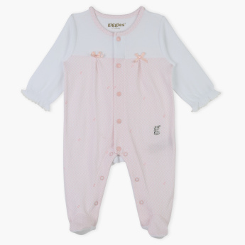 Giggles Round Neck Printed Sleepsuit