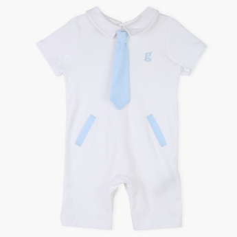 Giggles Short Sleeves Romper with Tie