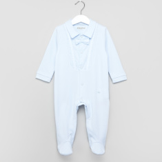 Giggles Bow Applique Closed Feet Sleepsuit