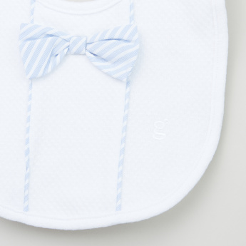 Giggles Bow Applique Detail Bib