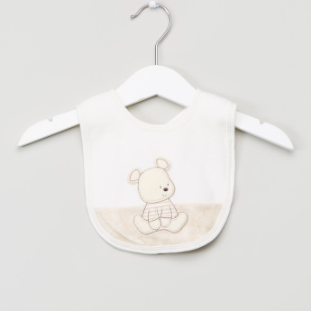 Juniors Embroidered Bib with Snap Closure