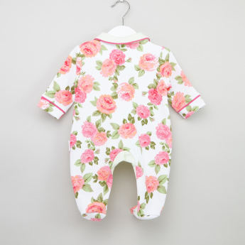 Juniors Floral Printed Closed Feet Sleepsuit