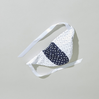 Juniors Dot Printed Bonnet with Tie Ups