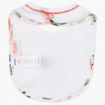 Juniors Floral Printed Bib with Press Button