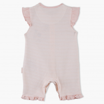 Juniors Striped Cap Sleeves Romper