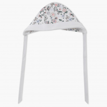 Juniors Floral Print Tie-Up Cap